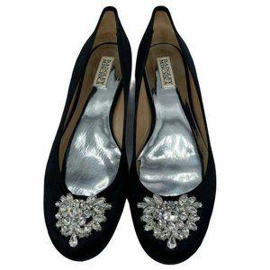 Badgley Mischka Pippa Ballet Flats Black Silver